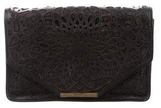 Isabella Fiore Leather Laser Cut Clutch