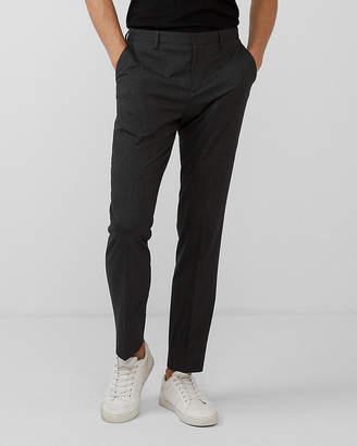 Express Slim Dark Charcoal Plaid Dress Pant