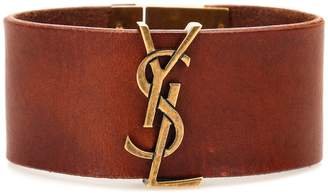Saint Laurent Opyum Monogram leather bracelet