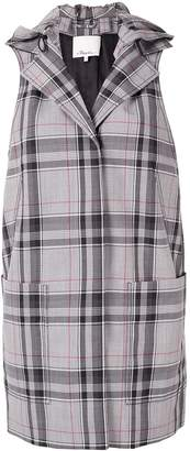 3.1 Phillip Lim plaid hooded waistcoat
