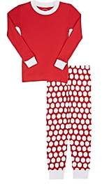 Sara's Prints Polka Dot Cotton Pajama Set-Red