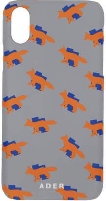 MAISON KITSUNÉ Grey ADER error Edition Fox Pattern iPhone X Case