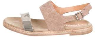 Aquatalia Suede Quilted Sandals
