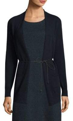 Peserico Wool, Silk& Cashmere Open-Front Cardigan
