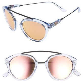 7399442a28 Westward Leaning Women s Olivia Palermo X  Flower  Mirrored Sunglasses -  Blue Ice Shiny