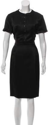 Burberry Short Sleeve Midi Dress