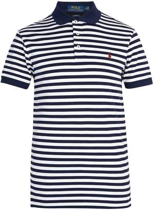 Polo Ralph Lauren Striped stretch cotton pique polo shirt