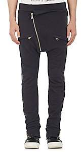 Pierre Balmain MEN'S ZIP-SIDE COTTON SWEATPANTS-NAVY SIZE 54 EU