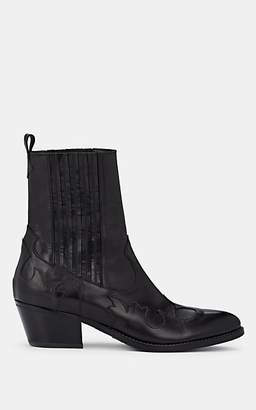 Barneys New York Women's Leather Chelsea Boots - Black