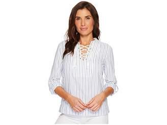 U.S. Polo Assn. Stripe Dobby Blouse Women's Blouse