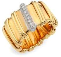 Roberto Coin Nabucco Diamond& 18K Rose Gold Ring