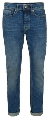 Topman Mens Mid Blue Vintage Wash Stretch Skinny Jeans