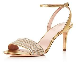 Kate Spade Women's Jasmyne Metallic Leather High-Heel Sandals