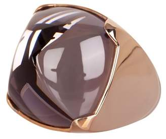 Baccarat Medicis Gold Vermeil Crystal Ring - Size 5.5