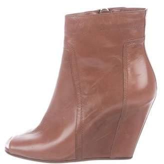 Rick Owens Peep-Toe Wedge Boots