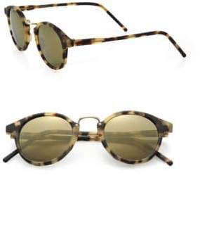 Kyme Frank 46mm Round Monel Bridge Sunglasses