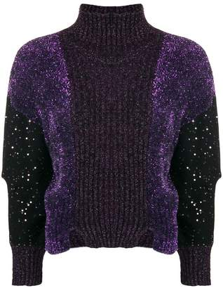 Just Cavalli lurex turtleneck sweater