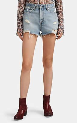 Rag & Bone Women's Justine Distressed Denim Shorts - Blue