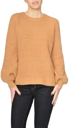 See U Soon Tan Metallic Sweater