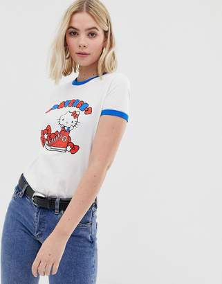 Converse x Hello Kitty white graphic ringer t-shirt