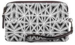 VIDA Seismic Leather Statement Clutch