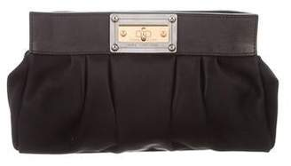 Marc Jacobs Leather-Trimmed Satin Clutch