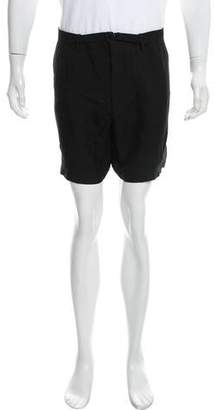 Lanvin Belted Woven Shorts