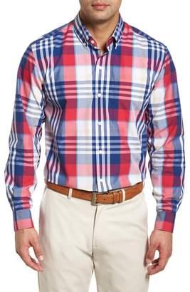 Cutter & Buck Cooper Classic Fit Non-Iron Plaid Sport Shirt