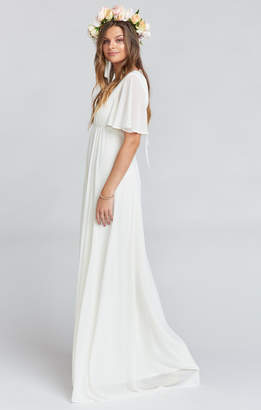 Show Me Your Mumu Faye Flutter Maxi Dress ~ Wedding Cake Chiffon