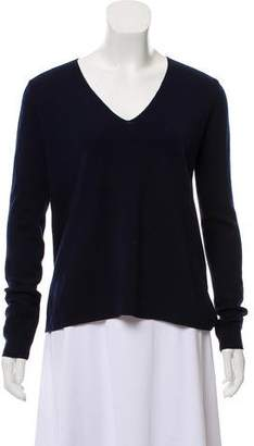 Allude V-Neck Wool Top