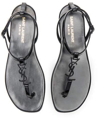 Saint Laurent Patent Leather Nu Pieds Sandals