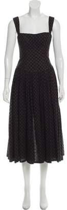 Alberta Ferretti Eyelet Maxi Dress