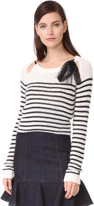 RED Valentino Tie Neck Sweater $450 thestylecure.com
