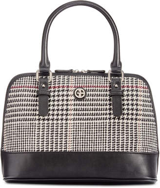 Giani Bernini Woven Plaid Dome Satchel