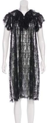 Thomas Wylde Lace Midi Dress