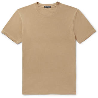 Tom Ford Lyocell and Cotton-Blend Jersey T-Shirt - Men - Camel