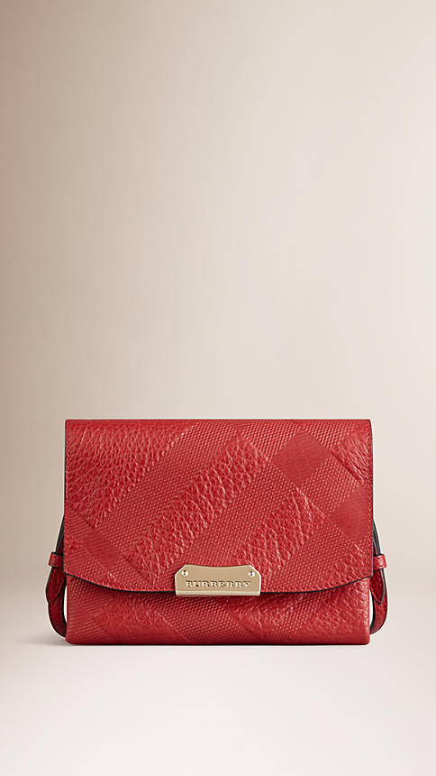 Burberry Small Embossed Check Leather Crossbody Bag 3