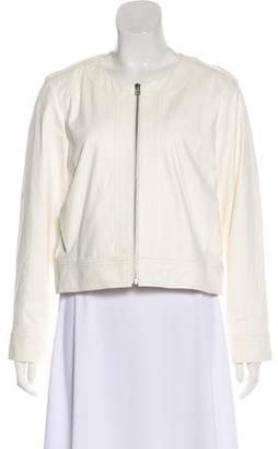 Derek Lam 10C x Athleta Leather Collarless Jacket