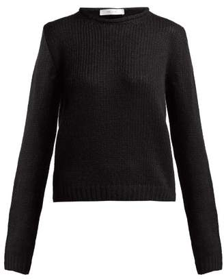 The Row Droi Waffle Knit Cashmere Blend Sweater - Womens - Black