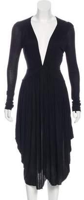 Antonio Berardi Long Sleeve Midi Dress