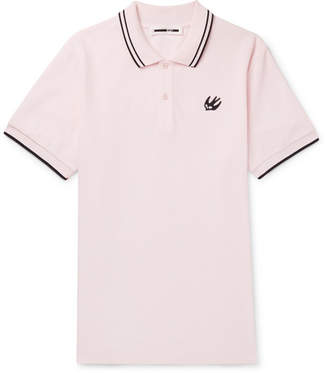 McQ Slim-Fit Contrast-Tipped Cotton-Piqué Polo Shirt