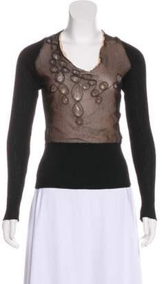 Jean Paul Gaultier Bead-Embellished Wool Sweater Black Bead-Embellished Wool Sweater