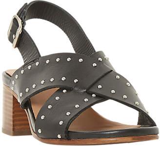 Bertie Indygo Studded Strap Block Heel Sandals