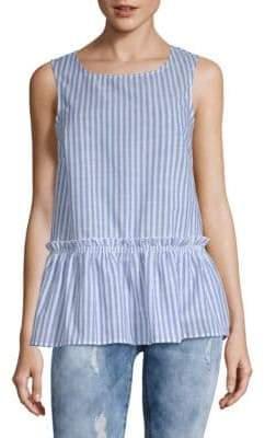 Stripe Cotton Peplum Top