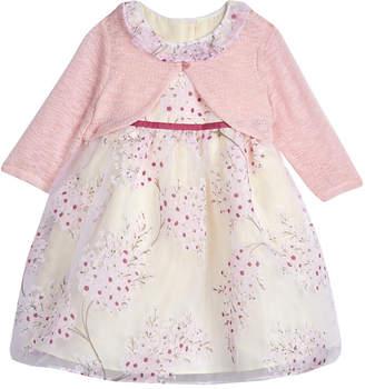 Laura Ashley Floral Organza Dress & Shrug