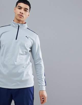 Puma fleece half zip in gray 57454002