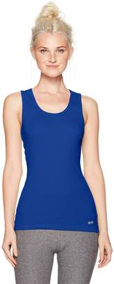 Soffe Women's Juniors Boy Beater Ribbed Tank Top