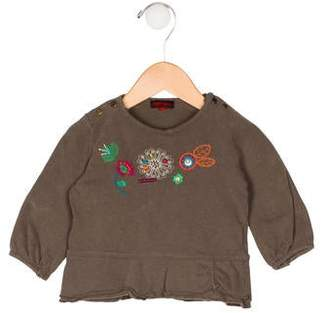 Catimini Girls' Embroidered Knit Top