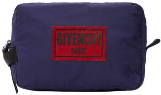 Givenchy Blue Nylon Obsedia Dopp Kit Pouch