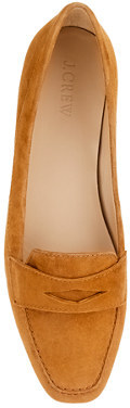 J.Crew Lexington suede penny loafers